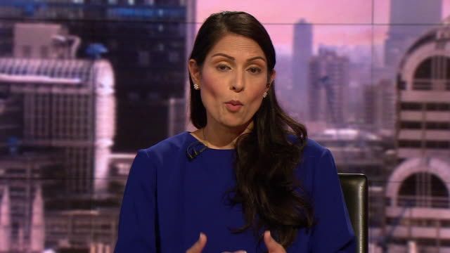 priti patel saying justice needs to be done and all parties need to cooperate in the investigation into the death of harry dunn - home secretary stock videos & royalty-free footage