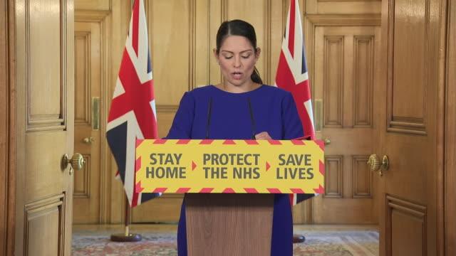 priti patel saying the entire nation is grieving after the uk coronavirus death toll passes 20000 - martyr stock videos & royalty-free footage