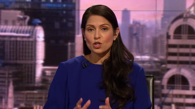 priti patel saying the labour party are playing politics over the government's brexit deal when they don't know the details - home secretary stock videos & royalty-free footage