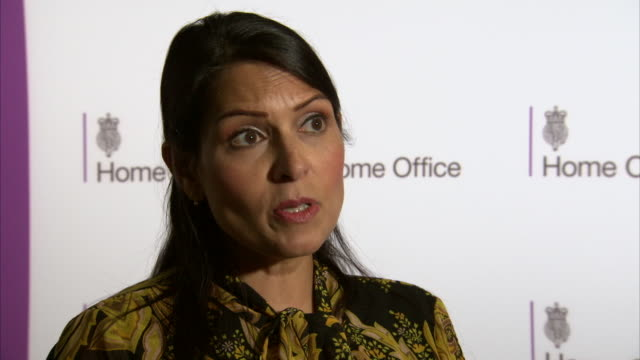 priti patel talking about further counterterrorism measures the government will take - home secretary stock videos & royalty-free footage