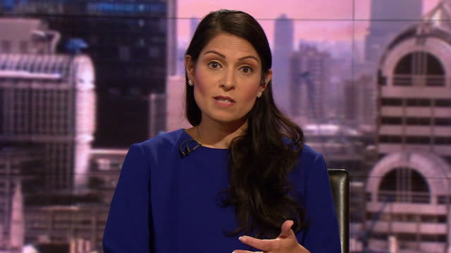 priti patel talking about security measures the government has in place on the irish border in case of a nodeal brexit - security stock videos & royalty-free footage