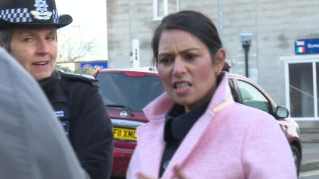 priti patel talking to specialist firearms officers - home secretary stock videos & royalty-free footage