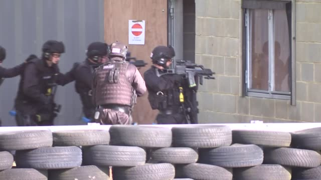 priti patel visits kent police college in maidstone england kent maidstone kent police college ext **training** armed police officers taking part in... - armed police forces stock videos & royalty-free footage