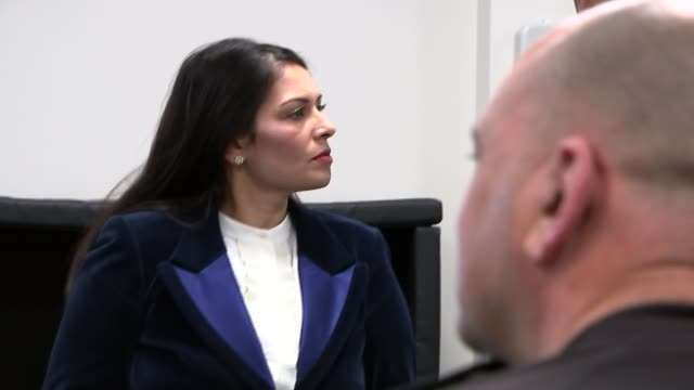 priti patel visits kent police college in maidstone england kent maidstone kent police college ext priti patel mp meeting people then along into... - maidstone stock videos and b-roll footage