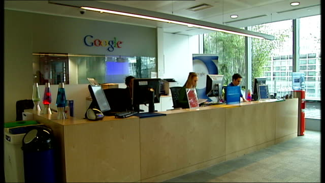 privacy fears over new google service 352008 google offices - google stock videos & royalty-free footage