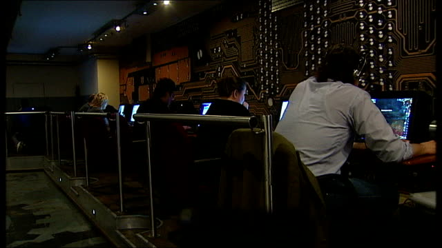 Privacy fears over new Google service DATE London INT People in internet cafe