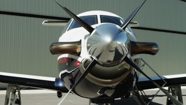 MS PAN Private airplane on tarmac / Spanish Fork, Utah, USA