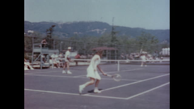 1947 private and city owned tennis clubs can be found across los angeles - tennis stock videos & royalty-free footage
