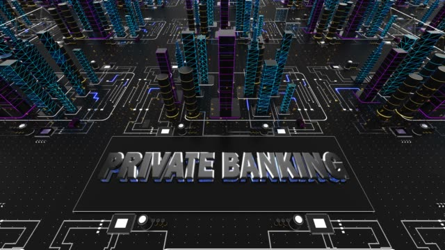 private banking network technology - banking stock videos and b-roll footage