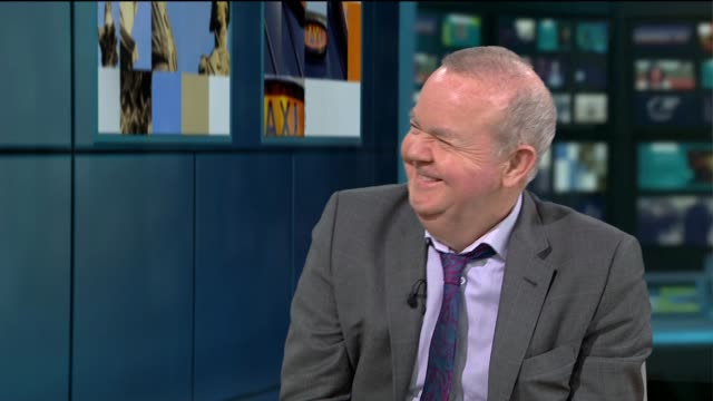 private eye annual launched: ian hislop interview; england: london: gir: int ian hislop live studio interview sot. - ian hislop stock videos & royalty-free footage