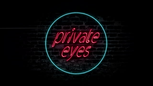 Private eyes neon sign