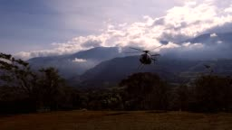 Private helicopter landing
