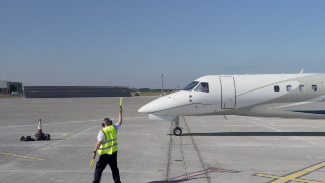 4k private jet arrives for prince harry duke of sussex and meghan duchess of sussex arrive at dublin airport during their visit to ireland the duke... - private jet stock videos & royalty-free footage
