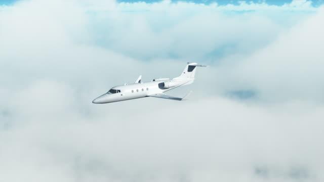 vidéos et rushes de jet privé au-dessus des nuages - avion de tourisme