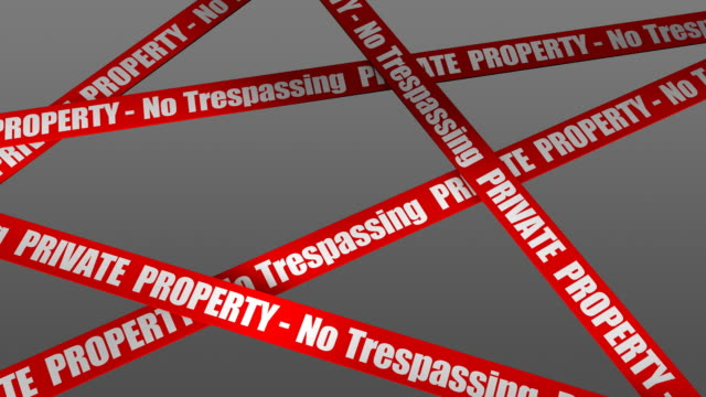 (loop + alpha) private property - no trespassing - no trespassing stock videos & royalty-free footage