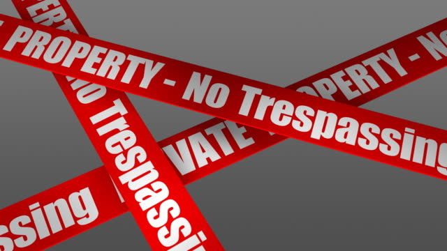 private property - no trespassing (alpha channel) - no trespassing stock videos & royalty-free footage
