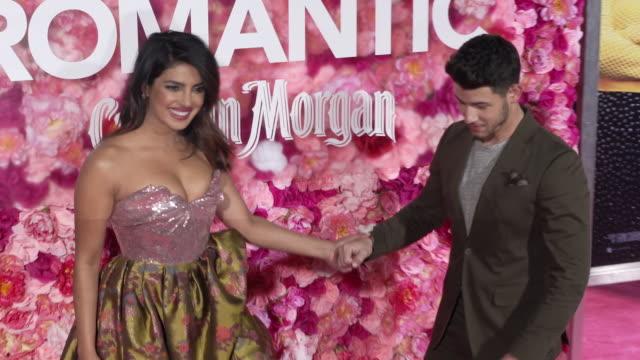 Priyanka Chopra and Nick Jonas at the 'Isn't It Romantic' World Premiere