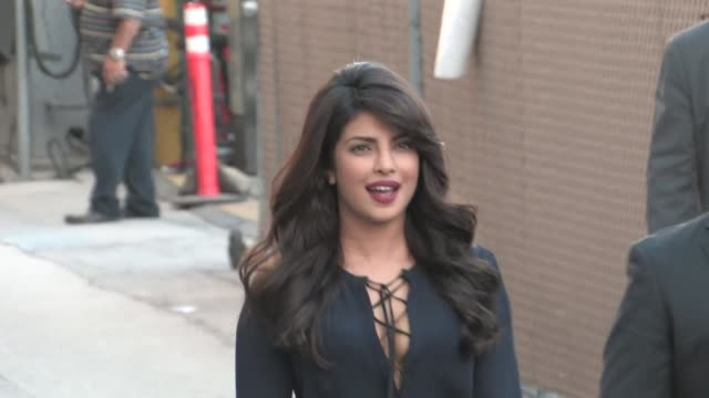Priyanka Chopra at Jimmy Kimmel Live in Hollywood in Celebrity Sightings in Los Angeles