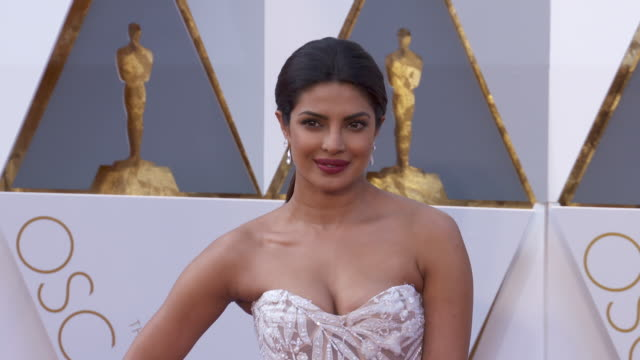 priyanka chopra at the 88th annual academy awards - arrivals at hollywood & highland center on february 28, 2016 in hollywood, california. 4k... - academy awards stock videos & royalty-free footage