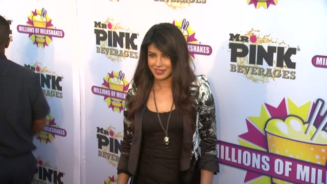 CLEAN Priyanka Chopra Launches The Exotic Celebrity Milkshake At Millions of Milkshakes Culver City CA United States 7/25/13