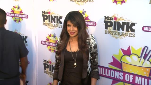 CHYRON Priyanka Chopra Launches The Exotic Celebrity Milkshake At Millions of Milkshakes Culver City CA United States 7/25/13