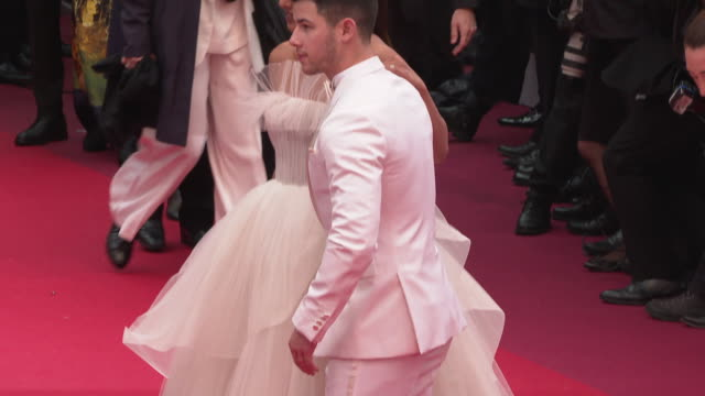 priyanka chopra nick jonas at 'the best years of a life ' red carpet arrivals the 72nd cannes film festival on may 18 2019 in cannes france - international cannes film festival stock videos & royalty-free footage