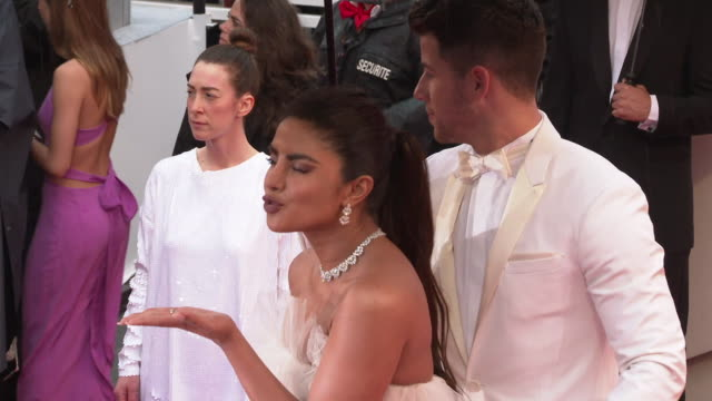 GIF Priyanka Chopra Nick Jonas attend 'The Best Years of a Life ' Red Carpet Arrivals during the 72nd annual Cannes Film Festival on May 18 2019 in...
