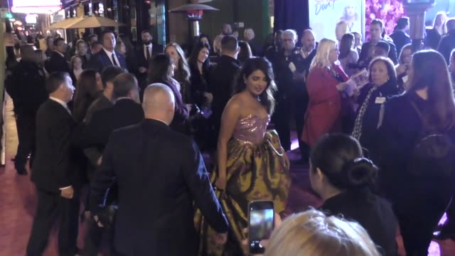 Priyanka Chopra Nick Jonas greet fans outside the premiere of Isn't It Romantic at The Theatre at Ace Hotel in Los Angeles in Celebrity Sightings in...