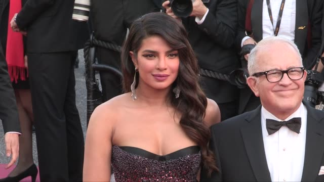Priyanka Chopra on the red carpet for the screening of Rocketman during the 72nd annual Cannes Film Festival Cannes France on Thursday May 16 2019