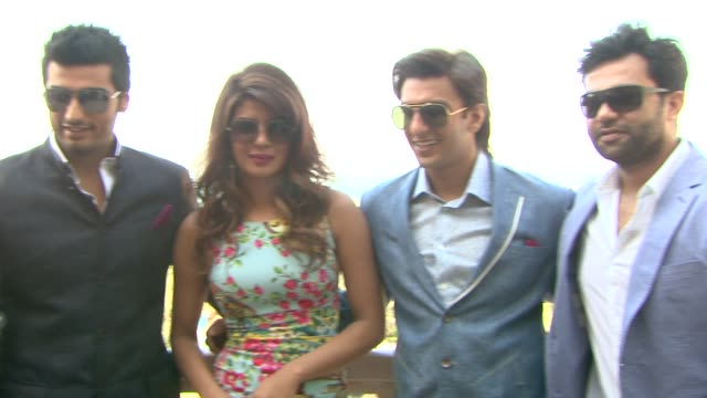 Priyanka Chopra Ranveer Singh Arjun Kapoor and Ali Abbas Zafar 'Gunday' Press Junket 10th Annual Dubai International Film Festival at Madinat...