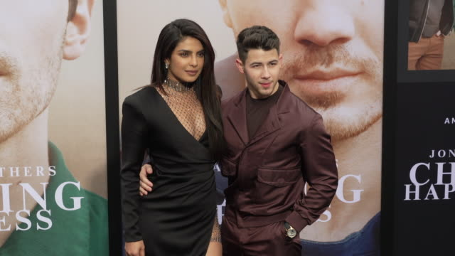 priyanka choprajonas and nick jonas at the jonas brothers' chasing happiness world premiere at regency bruin theatre on june 03 2019 in los angeles... - bruin theater stock videos & royalty-free footage