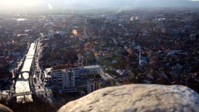 vídeos y material grabado en eventos de stock de prizren city(high angle wiew&slide) - cultura de europa del este