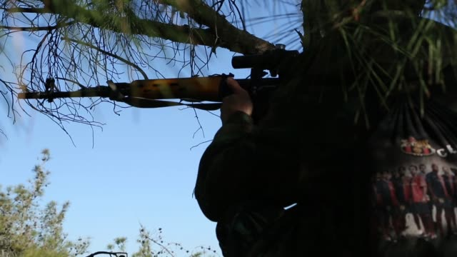 pro assad home guard are fighting with an nusra front latakia province - home guard britannica video stock e b–roll