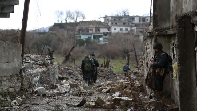 pro assad home guard take control of village near turkishsyrian border north latakia - home guard britannica video stock e b–roll