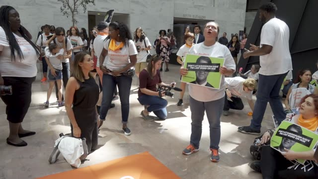 pro choice activist rallied at the hart senate office building in washington dc in light of the anniversary of roe v. wade, a landmark decision... - u.s. supreme court stock videos & royalty-free footage