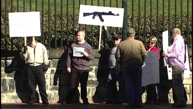 pro gun rally at virginia state capitol on january 19, 2013 in richmond, va - バージニア州 リッチモンド点の映像素材/bロール