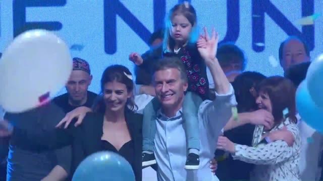 pro market macri wins argentina presidency early results - mauricio macri stock videos and b-roll footage