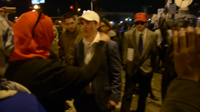 Pro Trump Supporter And Anti Trump Protester Arguing Part 1