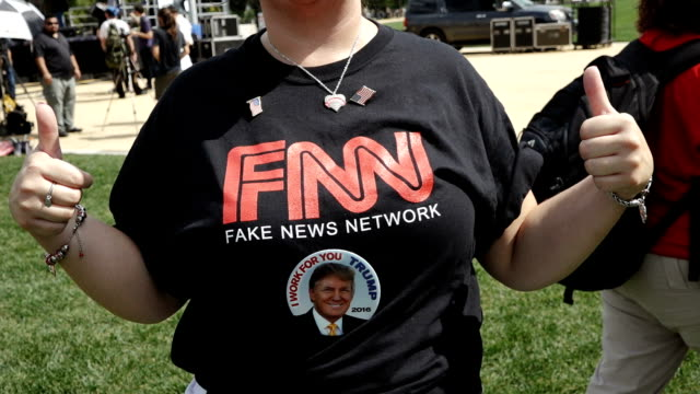 pro –trump supporters gathered in support of president donald trump during the 'mother of all rallies' at the national mall in washington, d.c.,... - all shirts stock-videos und b-roll-filmmaterial