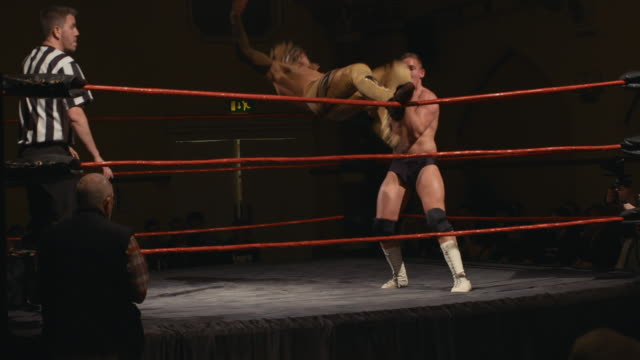 acrobatic chain wrestling sequence - professional sportsperson stock videos & royalty-free footage
