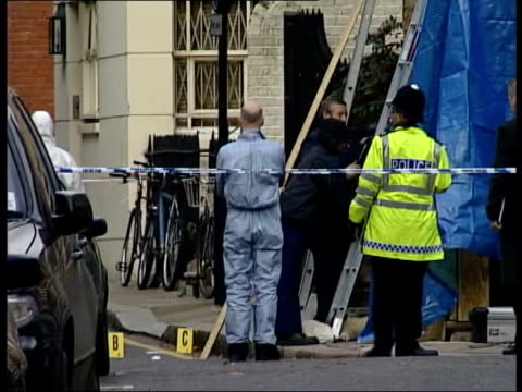 probation officers calling for public enquiry after monckton murder conviction; tx chelsea: day monckton's house as forensics officers examine crime... - probation stock videos & royalty-free footage