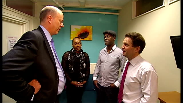 stockvideo's en b-roll-footage met probation service reforms announced by government chris grayling set ups and interview england london camberwell int chris grayling mp meeting... - probatie