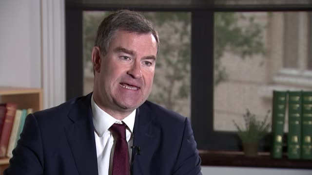 stockvideo's en b-roll-footage met probation service to be renationalised following chris grayling reforms engalnd london int david gauke mp interview sot ian lawrence interview sot... - probatie