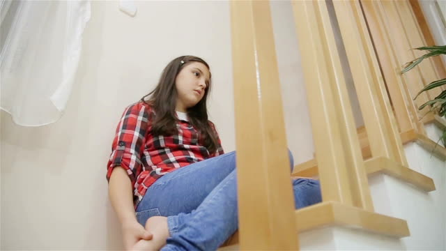 problems in puberty - one teenage girl only stock videos & royalty-free footage