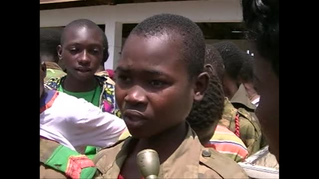 a process of demobilisation and reintegratiopn is underway in central african republic where unicef estimates 2000 children have been recruited by... - demobilisation stock videos & royalty-free footage