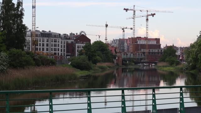 process of draining sewage is seen in gdansk poland on 15 may 2018 over 50 milion untreated sewage is pumped directly into the motlawa river due the... - water pumping station stock videos & royalty-free footage