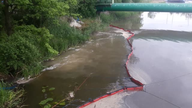 process of draining sewage is seen in gdansk poland on 15 may 2018 over 50 milion untreated sewage is pumped directly into the motlawa river due the... - pumping station stock videos & royalty-free footage
