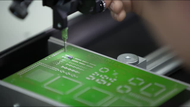 process of making semiconductor chip in factory / south korea - hole stock videos & royalty-free footage