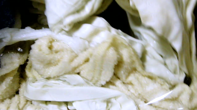 process of washing bed linens - liquid laundry detergent stock videos and b-roll footage