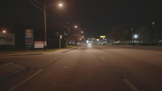 process plate straight back driving on suburban city street. - atlanta georgia stock videos & royalty-free footage